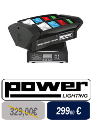 Power Lighting FOGBURST 1500 Led Machine à fumée 1500 watts pour DJ avec Led