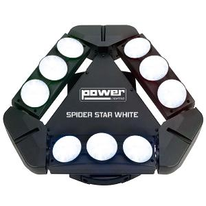 POWER LIGHTING - SPIDER STAR WHITE - Effet à led blanc 9x8W CREE
