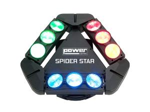 SPIDER STAR - Powerlighting effet à led 9 x 12W Cree RGBW