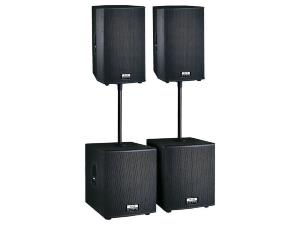 Definitive Audio FUSION 1600 - Pack Sono Amplifié  - 1600 Watts RMS