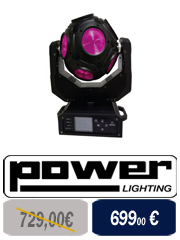 Power Lighting - Pack de 2 lyre led Pocket + Fly pour DJ