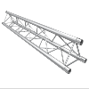 Structure Global Truss série F33 - Barre de 0.50 Mêtres - 3 connecteurs inclus