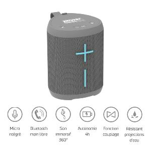 POWER ACOUSTICS GETONE 20 GREY - Enceinte Nomade Bluetooth Compacte - Couleur Gr