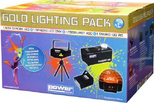 GOLD LIGHTING PACK - pack effet disco 4 pièces