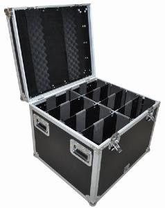 FLIGHT CASE Pro pour 8 Projecteur FLAT Par Big
