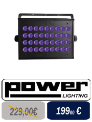 Power Lighting Led Roller Quad Cree - Effet led roller quad cree pour les DJ's